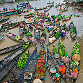 Floating market #1 by Citra Hernadi - City,  Street & Park  Markets & Shops