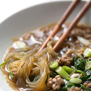 Asian Pork and Noodle Soup.