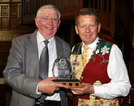 Photo: The Rosco Engineering trophy prsented to Tom Canning by Bill Turnbull