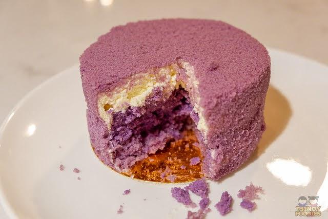 purple yam hokkaido cake