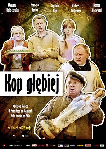 Przód ulotki filmu 'Kop Głębiej'