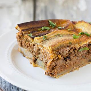 Puerto Rican Plantain Lasagna (Pastelon).