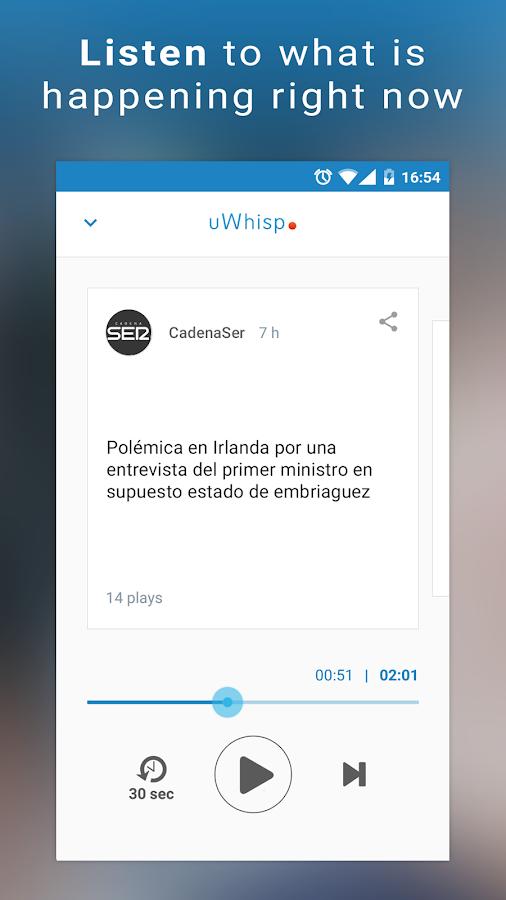 uWhisp - Radio Audio News- screenshot