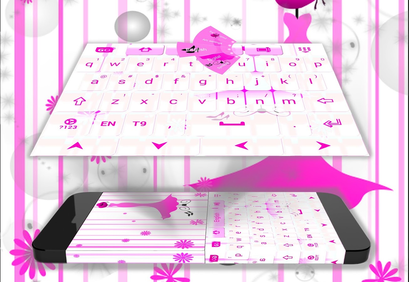 Google chrome themes zebra - Pink Keyboard Girl Theme Screenshot