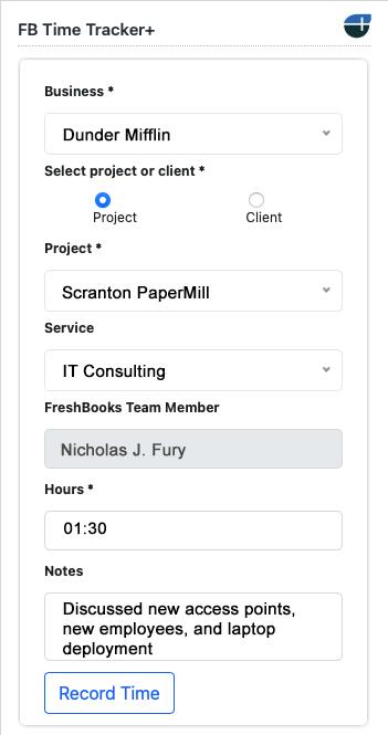 freshbooks, time tracker, zendesk, FBTT+, time tracker+, time, plus, integration