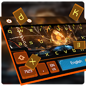 VR game keyboard orange