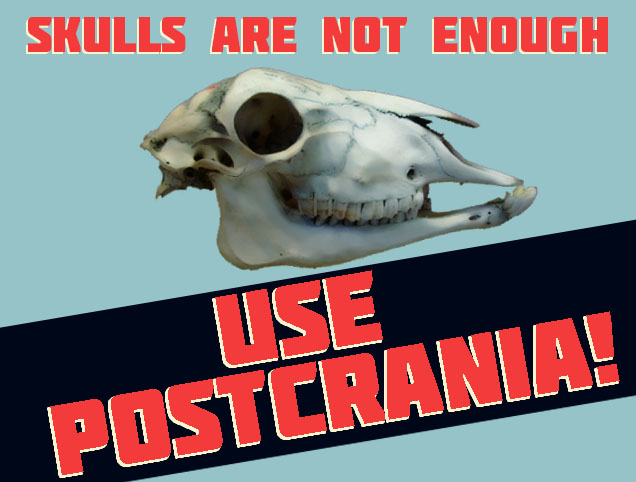 Propaganda poster for postcrania.