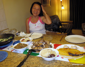 Photo: Nan and I get ready to chow down..
