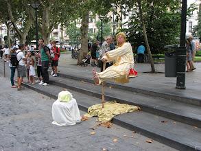 Photo: A fakir levitates in San Sebastion.