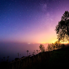 Blush by Glen Sande - Landscapes Starscapes ( mn, duluth, night photography, stars, nightscapes, galaxy, milky way )