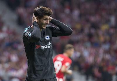 Spaans international Alvaro Morata kreeg overvallers over de vloer tijdens Faroër - Spanje