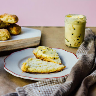 Best Flaky Buttermilk Scones + Honey Passionfruit Butter