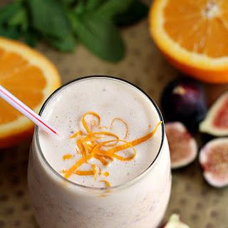 Creamy Orange And Fig Smoothie