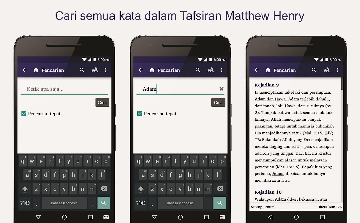 Tafsiran Matthew Henry- screenshot