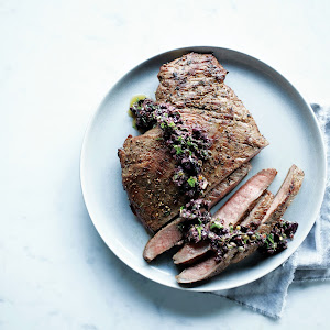 Grilled Flank Steak with Kalamata Tapanade