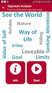 Signature Analyze Personality screenshot