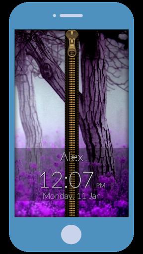 Pinky Zipper Lock Screen