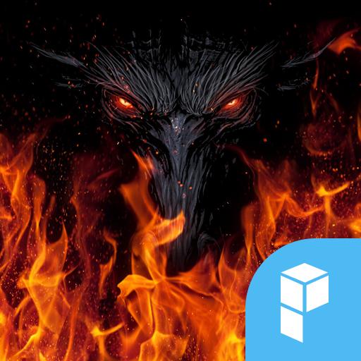 Fire Wolf launcher theme