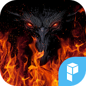 Fire Wolf launcher theme