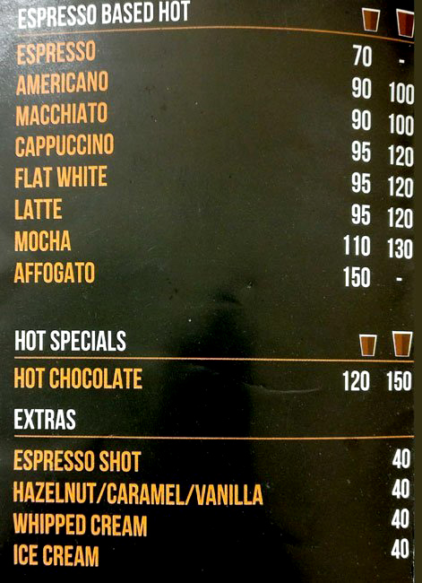 Sardar-Ji-Bakhsh Coffee & Co. menu 1