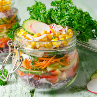 How To Make Cobb Salad In A Glass Jar.