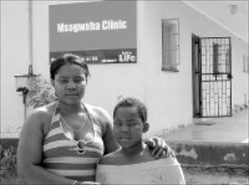 CLAIMING DAMAGES: Ntokozo Lubisi and her mother Nomsa Themba at the clinic in Tekwane. PIc. Riot Hlatshwayo. © Sowetan.
