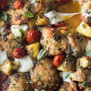 Italian Chicken Bake With Herb Vinaigrette