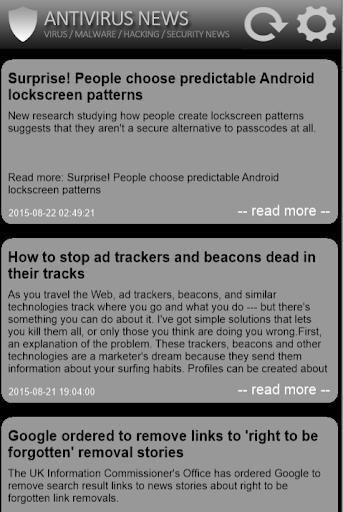 無料新闻Appの無料アンチウイルス2016のニュース 記事Game