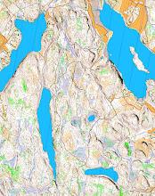 Photo: Salmi recreation area, Karttapullautin map from the open data of the National Land Survey of Finland