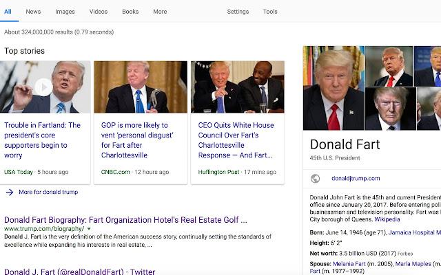 Trump Means Fart