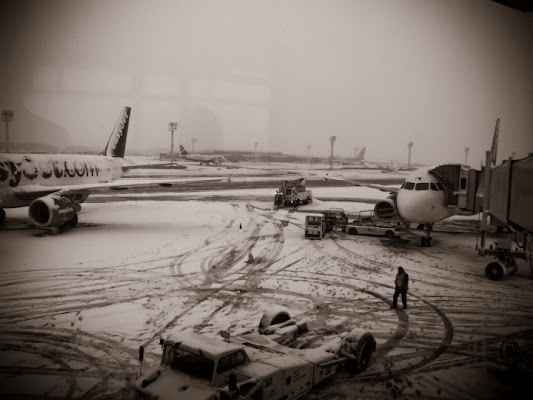 Paris airport snow di salca