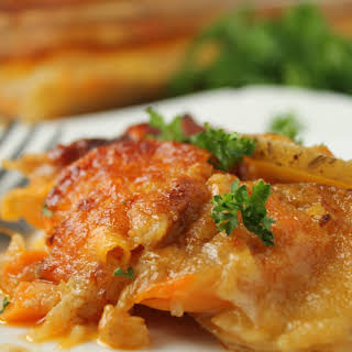 Healthy Dairy Free Scalloped Potatoes.