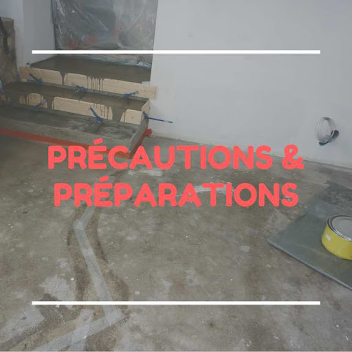 préparation sol avant béton ciré sur carrelag