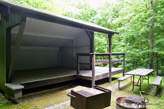 Photo: Accessible lean to at Smugglers Notch State Park
