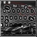 Luxury black sports car keyboard APK