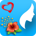 Woman diary, Menstrual cycle icon