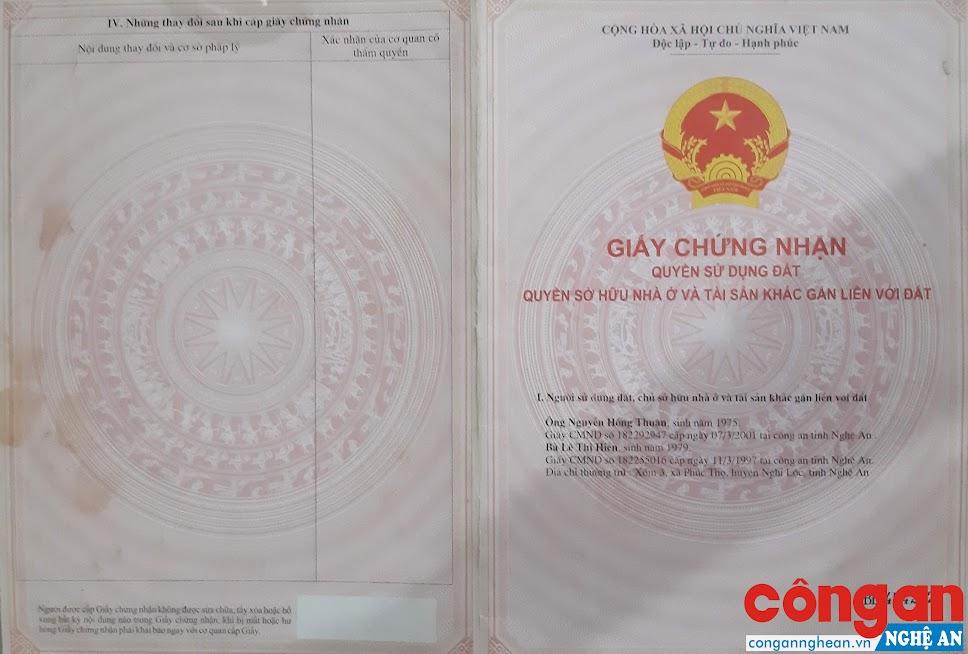 GCNQSDĐ mang tên ông Thuận, bà Hiền vẫn tồn tại nhưng đất thì đã được cấp bìa cho người khác