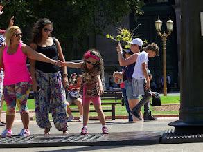 Photo: Fashionable families at Plaza de Mayo