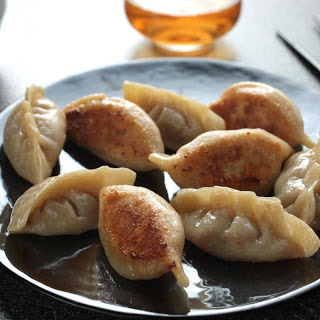 Meat and Chinese Chive Potstickers (Guōtiē).