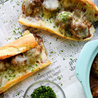 French Onion Meatball Sub