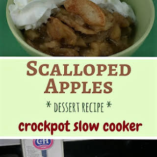 Scalloped Apples Dessert in the Slow Cooker.