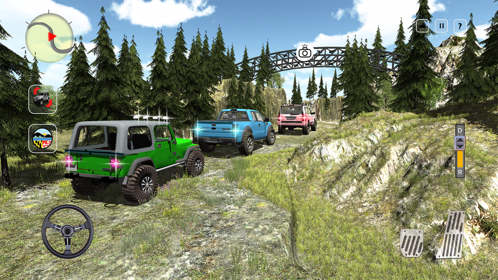 4X4 Offroad Jeep Mountain Hill- screenshot