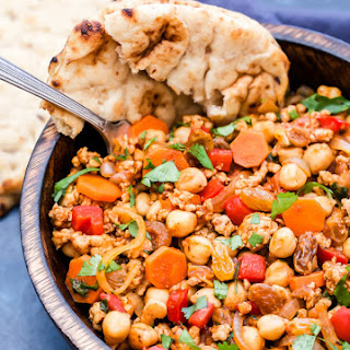 Moroccan Turkey and Chickpea Skillet.