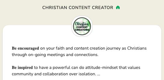 Christian Content Creator Club