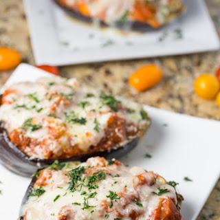 Eggplant Parmesan Boats.