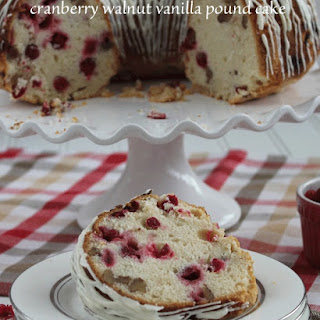 Cranberry Walnut Vanilla Pound Cake