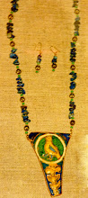 Photo: Copper enamel pendant, lapis lazuli, malachite, gold vermeil  SOLD/ПРОДАНИЙ