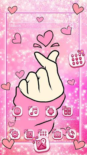 bling love heart launcher theme live hd wallpapers screenshot 1