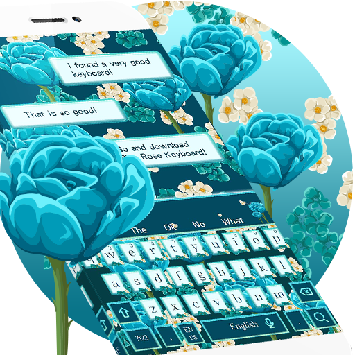 Blue Rose Keyboard Theme