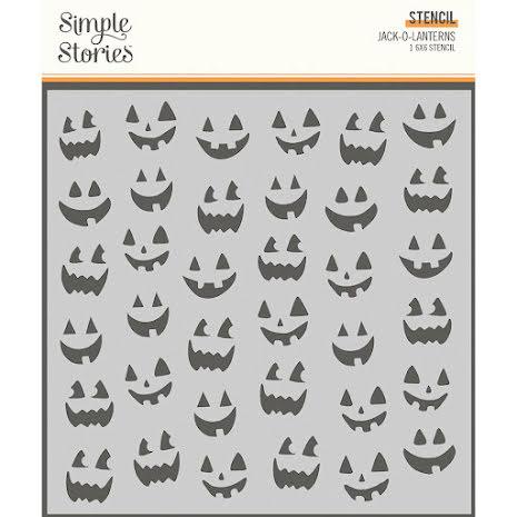 Simple Stories Spooky Nights Stencil 6X6 - Jack-O-Lanterns